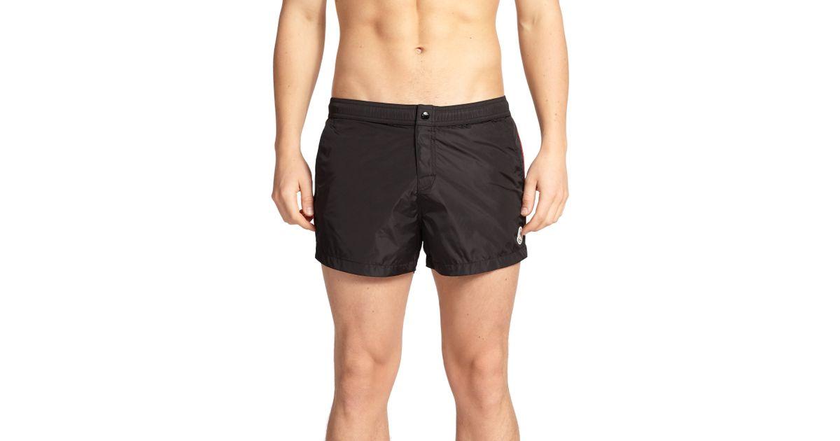 62b7ccb775d53 Moncler Nylon Swim Shorts in Black for Men - Lyst