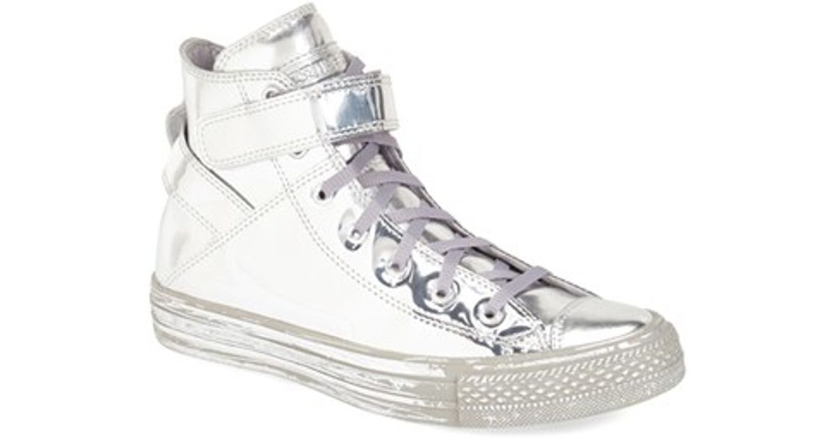0816cba6c Converse Chuck Taylor All Star  brea - Metallic  High Top Sneaker in White  - Lyst