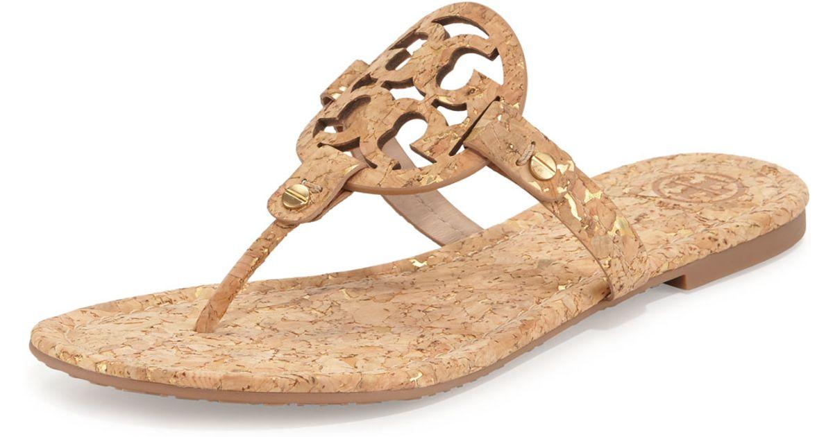 05a91e30c2d7 Lyst - Tory Burch Miller Cork Sandals in Natural