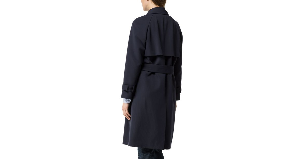 tommy hilfiger georgia trench coat in blue lyst. Black Bedroom Furniture Sets. Home Design Ideas
