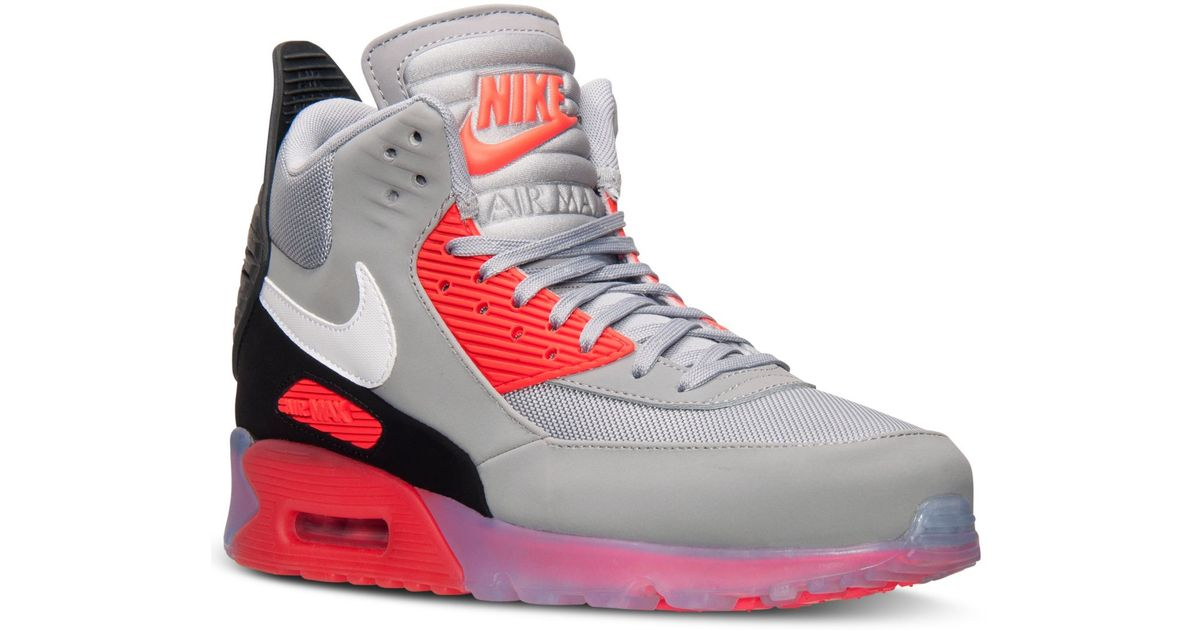 online retailer 05545 1a8d1 ... cheapest lyst nike mens air max 90 sneakerboot ice from finish line in  gray for men ...