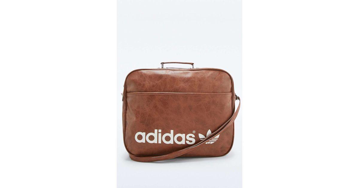 adidas Originals Brown Vintage Airline Bag in Brown for Men - Lyst 9909c6abab5