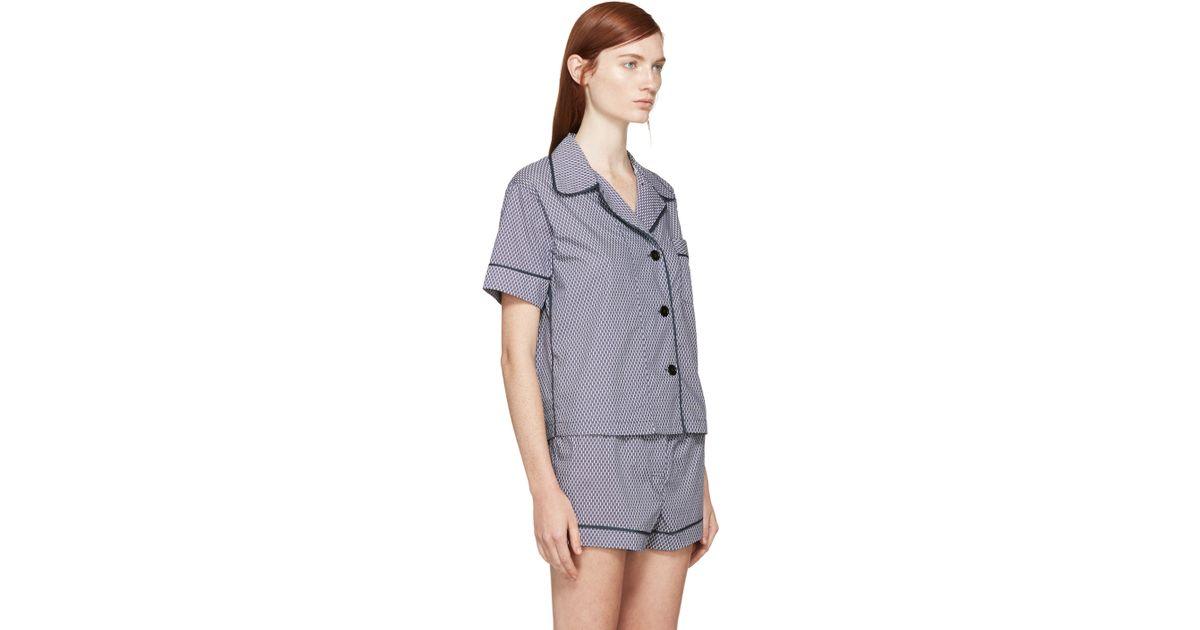 59af7b8d03186 Araks Blue And White Pyjama Blouse in Blue - Lyst