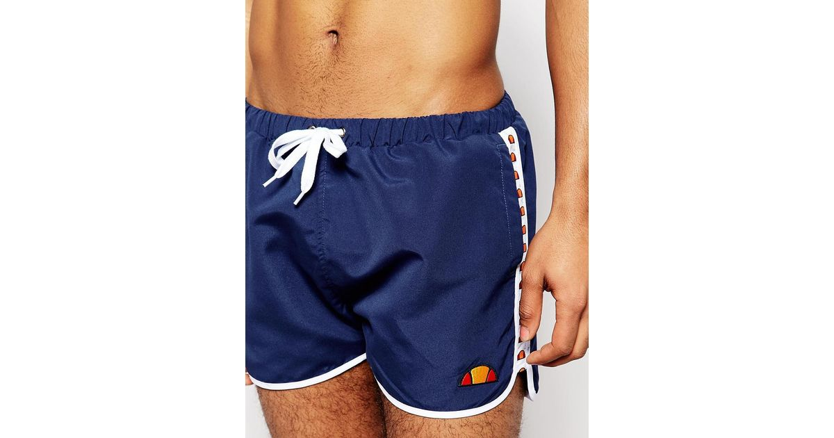 37b3d608b8 Ellesse Swim Shorts With Taping Exclusive To Asos in Blue for Men - Lyst