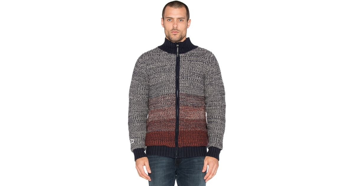 g star raw coper cardigan elv knit in red for men lyst. Black Bedroom Furniture Sets. Home Design Ideas