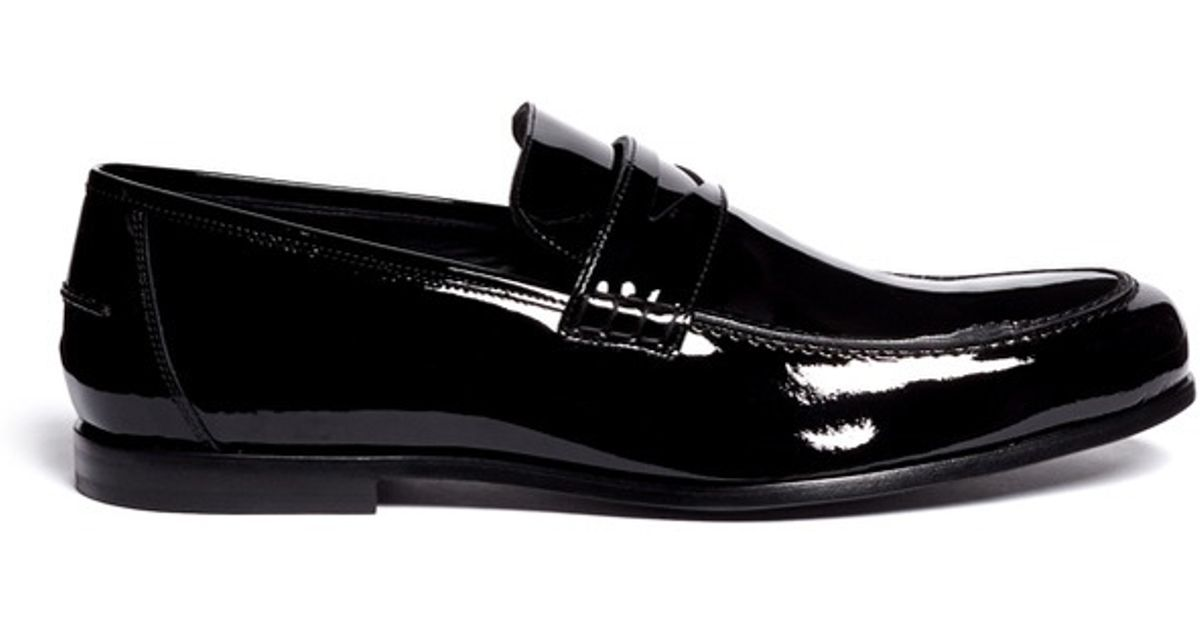 d301514d341 Lyst - Jimmy Choo Darblay Patent Leather Penny Loafers in Black for Men