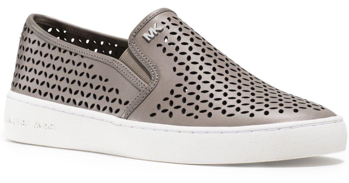 a8337bf9 Michael Kors Olivia Leather Slip-on Sneaker in White - Lyst