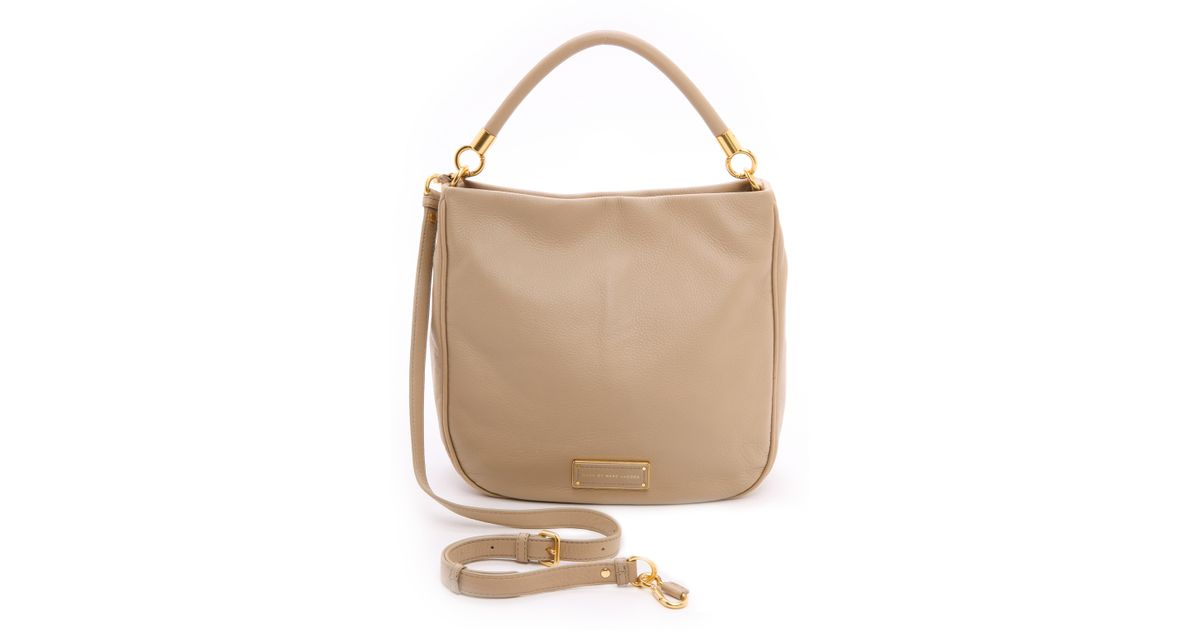 Lyst Marc By Jacobs Too Hot To Handle Hobo Bag Turkish Tile In Natural