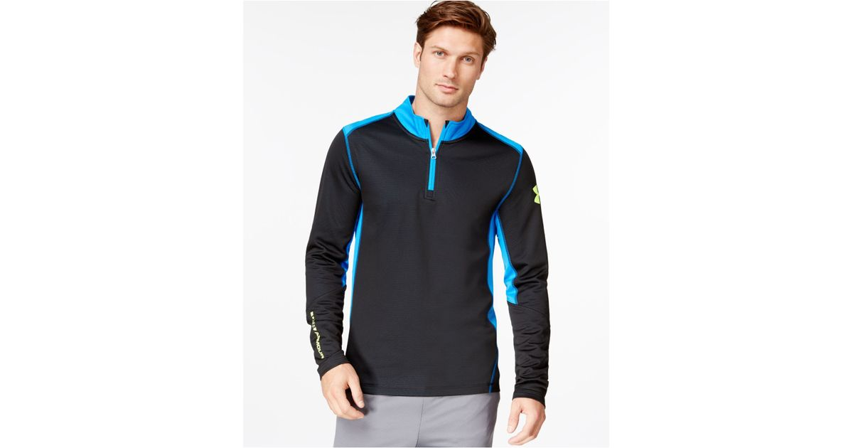 Under Armour Men 39 S Coldgear Infrared Grid Half Zip Long