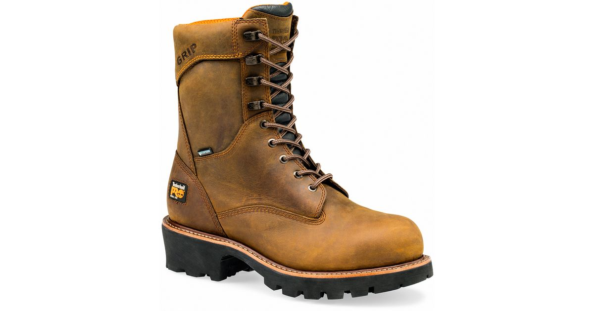 e60f7e411164 Lyst - Timberland Pro 9-inch Rip Saw Steel Safety Toe Wp Logger in Brown  for Men