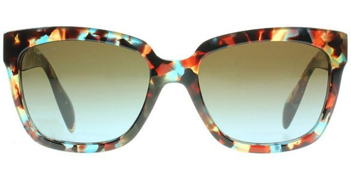 a050df56ec4 ... sweden lyst prada pr 07ps nag 0a4 havana spotted high fashion cat eye  sunglasses brown blue