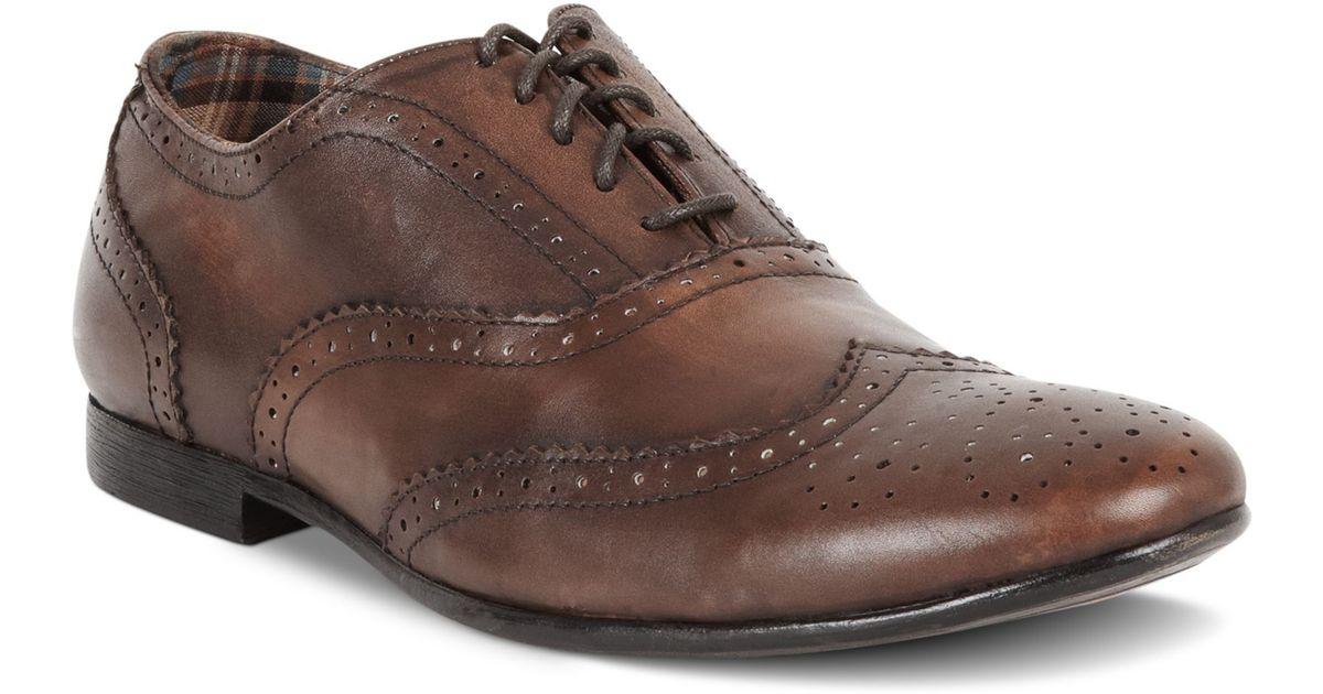 bed stu bed stu ellington oxford shoes in brown for men | lyst