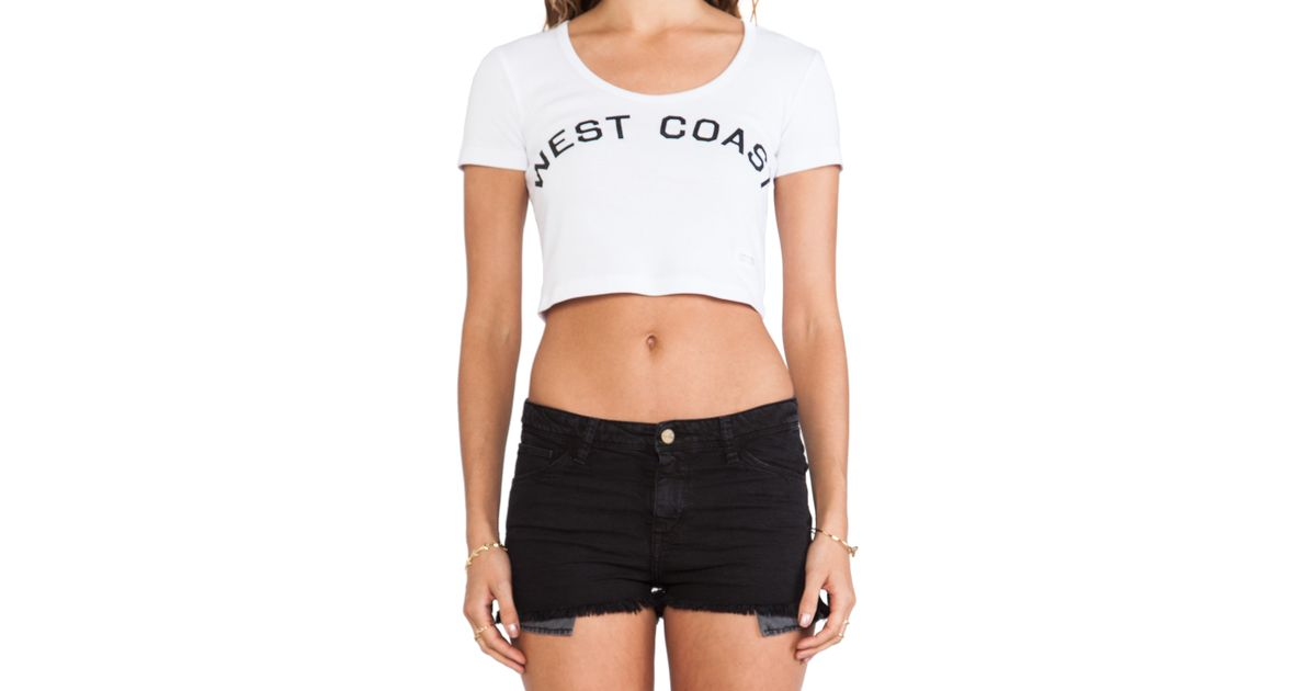 b7cc2cabddbe7 Lyst - Stampd West Coast Crop Top in White