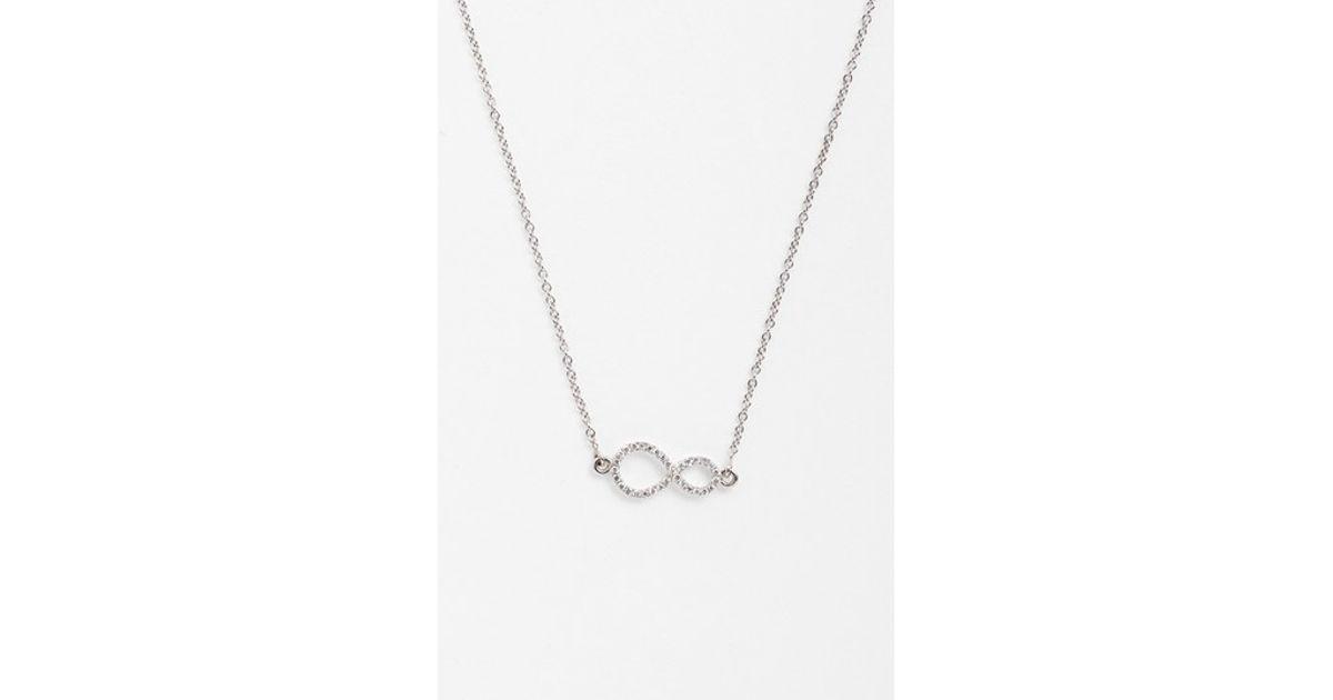 Lyst Bony Levy Pave Diamond Sideways Infinity Symbol Pendant
