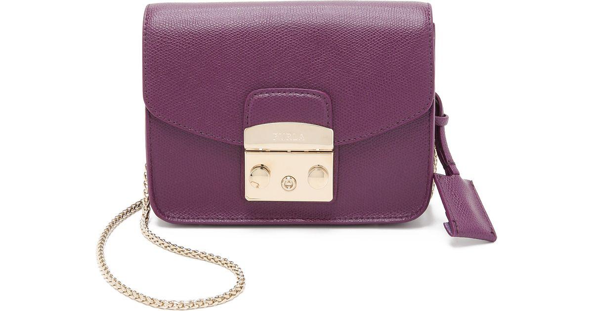 Furla - Purple Metropolis Mini Cross Body Bag - Aubergine - Lyst