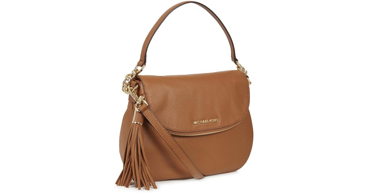 Michael Kors Weston Tan Textured Leather Crossbody Bag in Brown - Lyst e7a952fa68