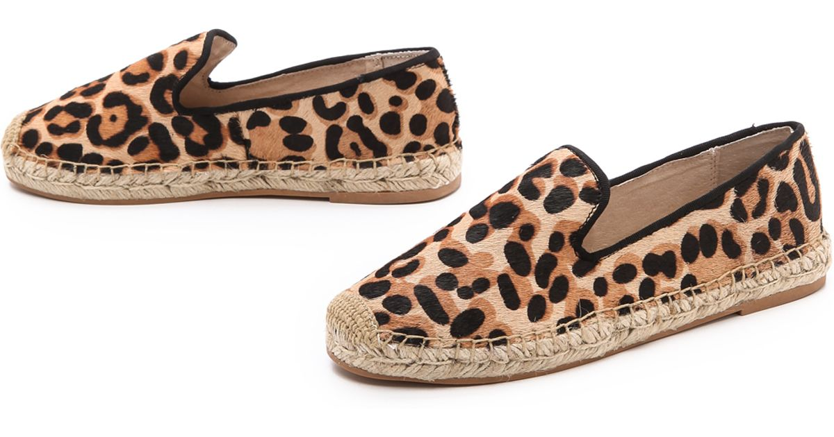 114e9af6c041 Lyst - Steven by Steve Madden Lanii Ponyhair Espadrille Flats Leopard in  Brown