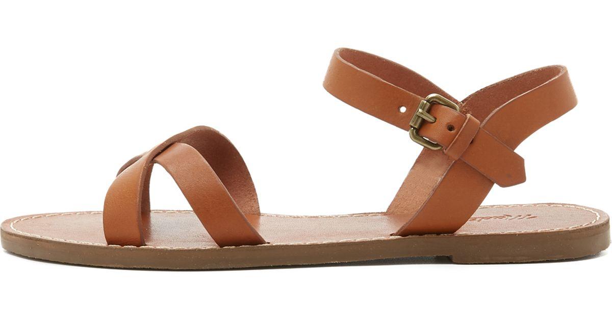 a3e74375724c Lyst - Madewell Boardwalk Crisscross Sandals in Brown