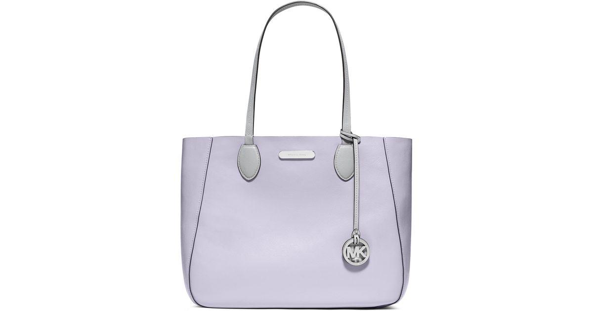 5177e7681ac6 MICHAEL Michael Kors Mae Large Bicolor Tote Bag in Purple - Lyst