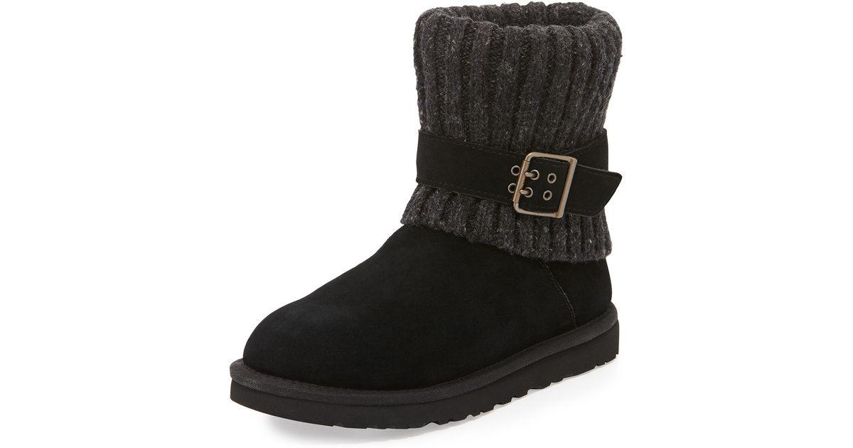 bef0dd7894d Lyst - UGG Cambridge Knit-Cuff Convertible Boot in Black