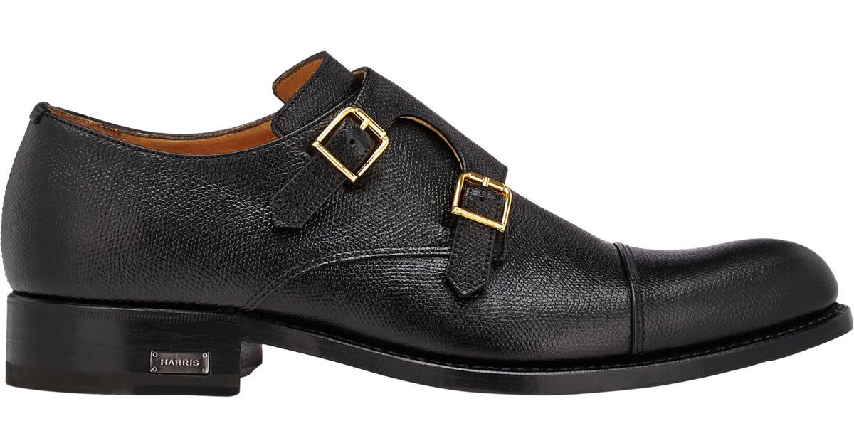 215249dbcff Lyst - Harris Double-monk-strap Shoes in Black for Men