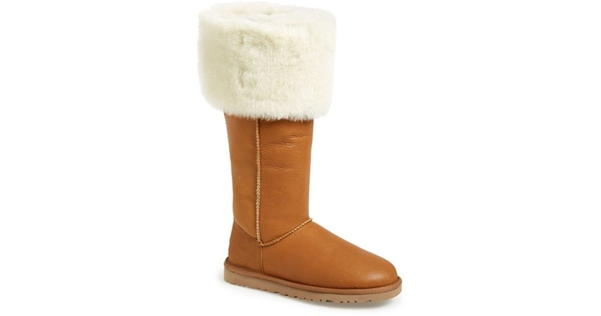 b68be4afeb3 Lyst - UGG Devandra Suede Over-The-Knee Boots in Brown