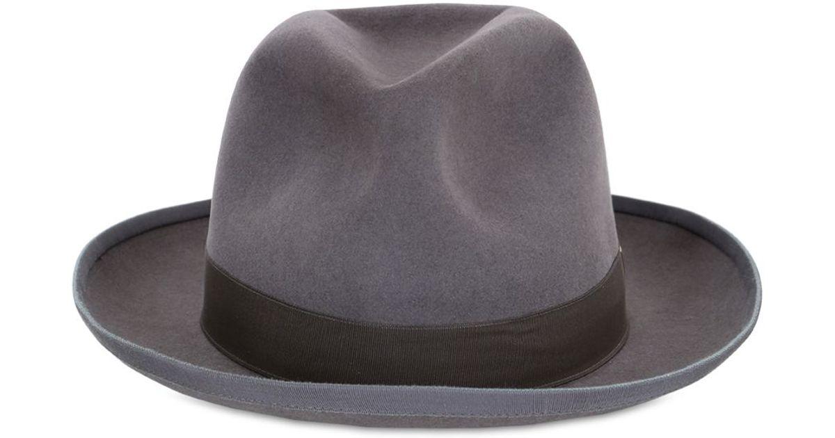 Lyst - SuperDuper Hats Storto Lapin Fur Felt Hat in Gray for Men ddb4aef54625