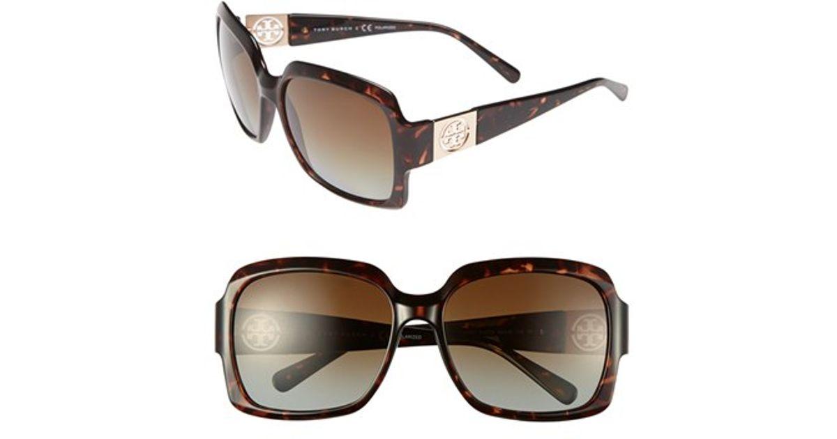 1df3d392cb Tory burch 59mm Polarized Sunglasses in Brown