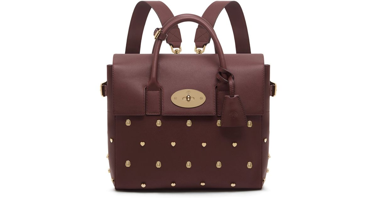 c04e7c7c8c Mulberry Cara Delevingne Bag With Rivets in Purple - Lyst