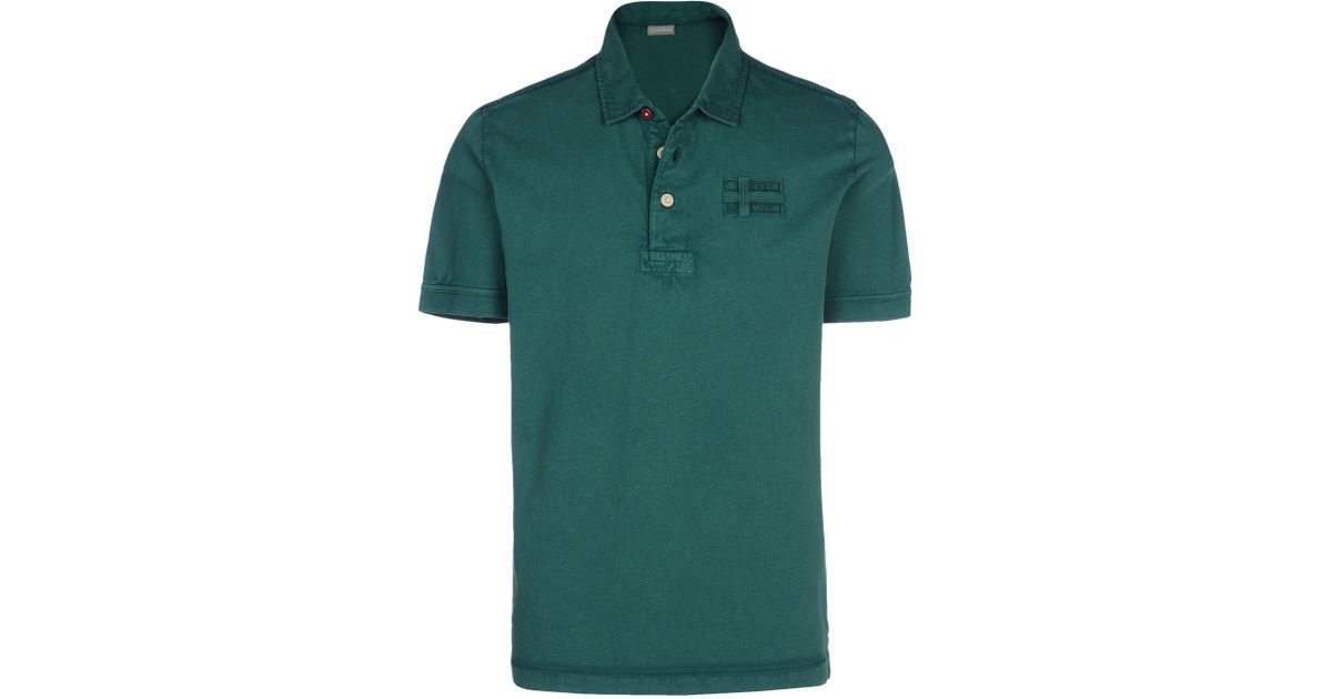 Napapijri polo in green for men lyst Emerald green mens dress shirt