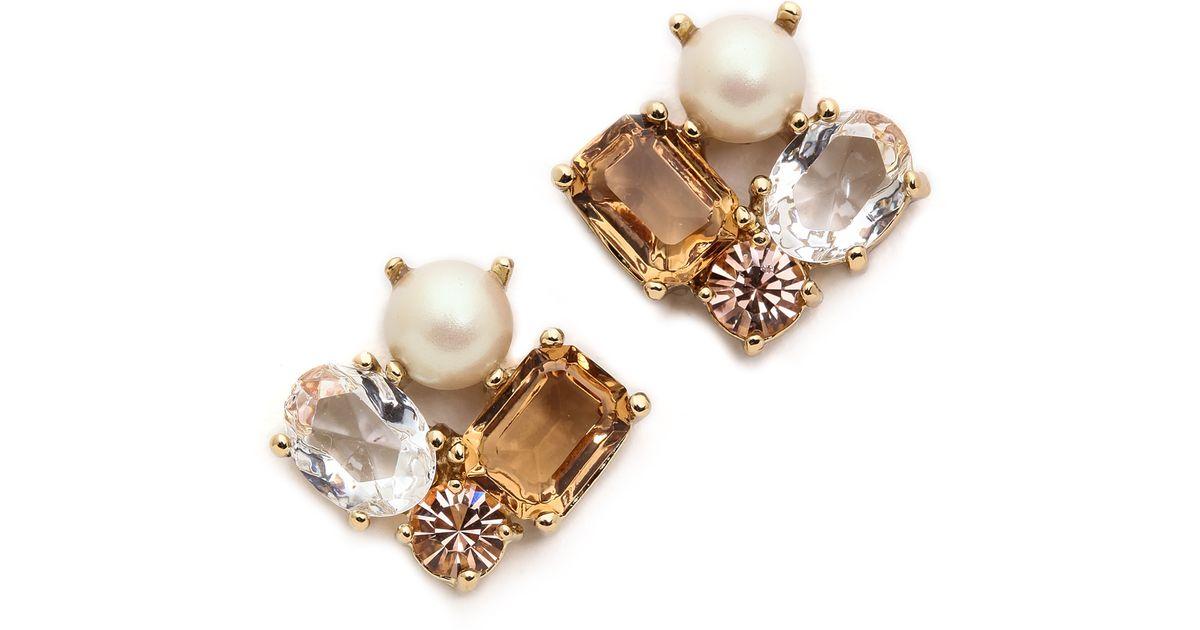 97b8611ff9577 Lyst - Kate Spade Cluster Earrings