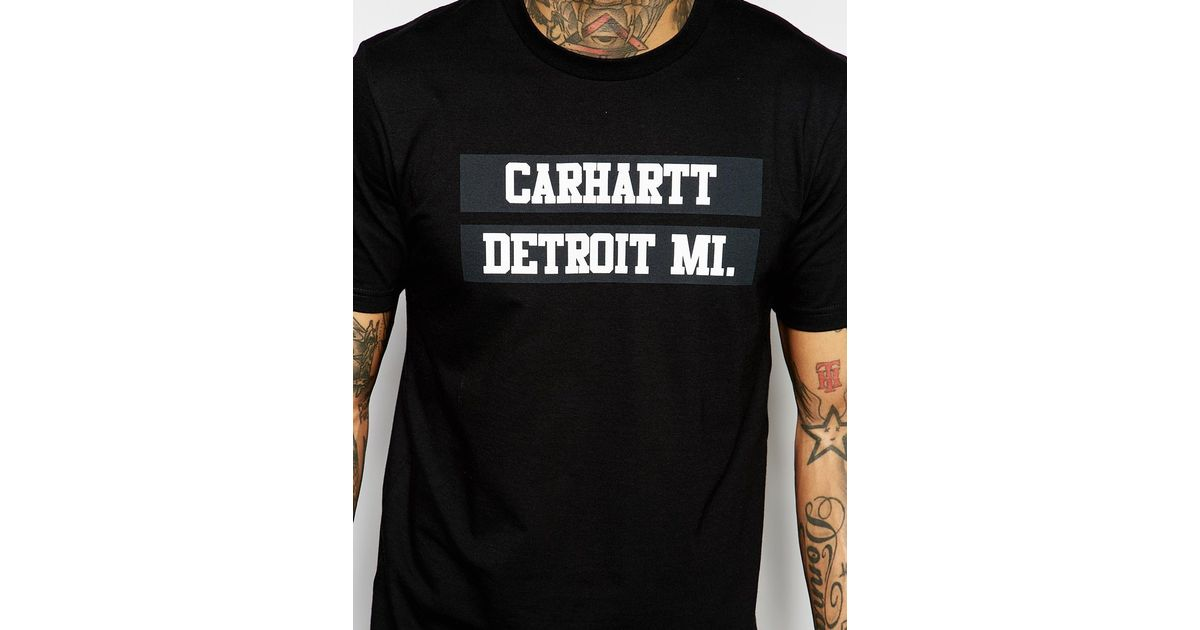 afba571fb7c Carhartt WIP 313 T-shirt With Back Print in Black for Men - Lyst