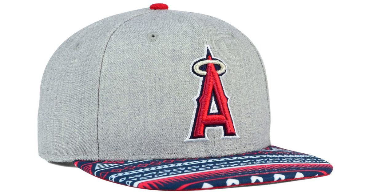 detailed look 7d4b9 86152 Lyst - KTZ Los Angeles Angels Of Anaheim Neon Mashup 9fifty Snapback Cap in  Gray for Men