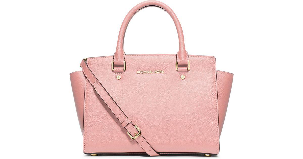ad5e8918c666 MICHAEL Michael Kors Selma Medium Top-zip Satchel Bag in Pink - Lyst