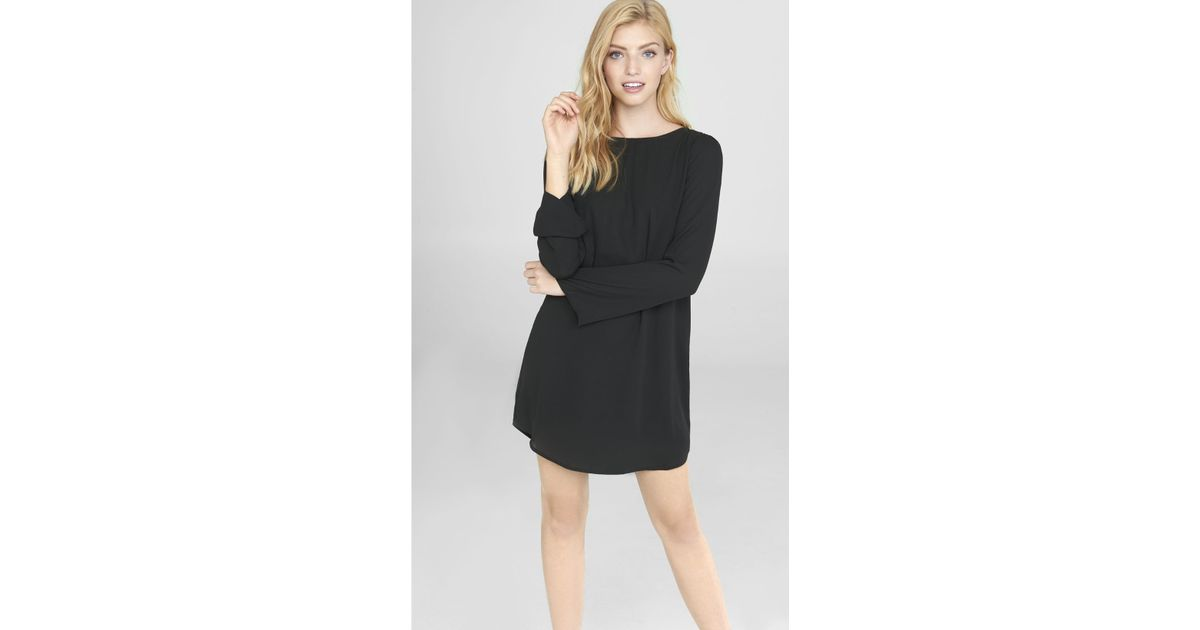 Lyst Express Black Fringe Back Tunic Dress In Black