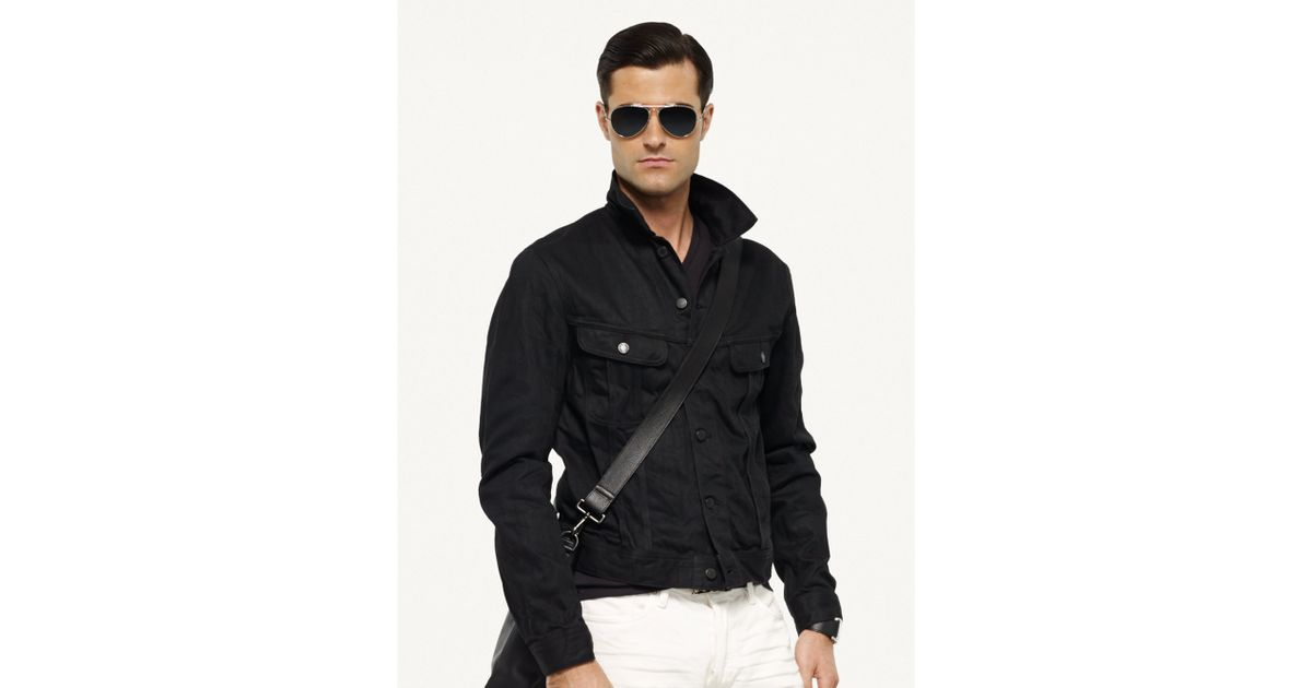 422743b517 Lyst - Ralph Lauren Black Label Mason Trucker Jacket in Black for Men