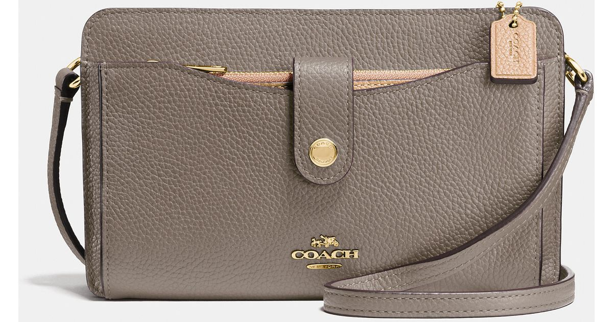 41c5455fed ... coupon lyst coach messenger with pop up pouch in colorblock leather in  metallic bfcd4 0671b