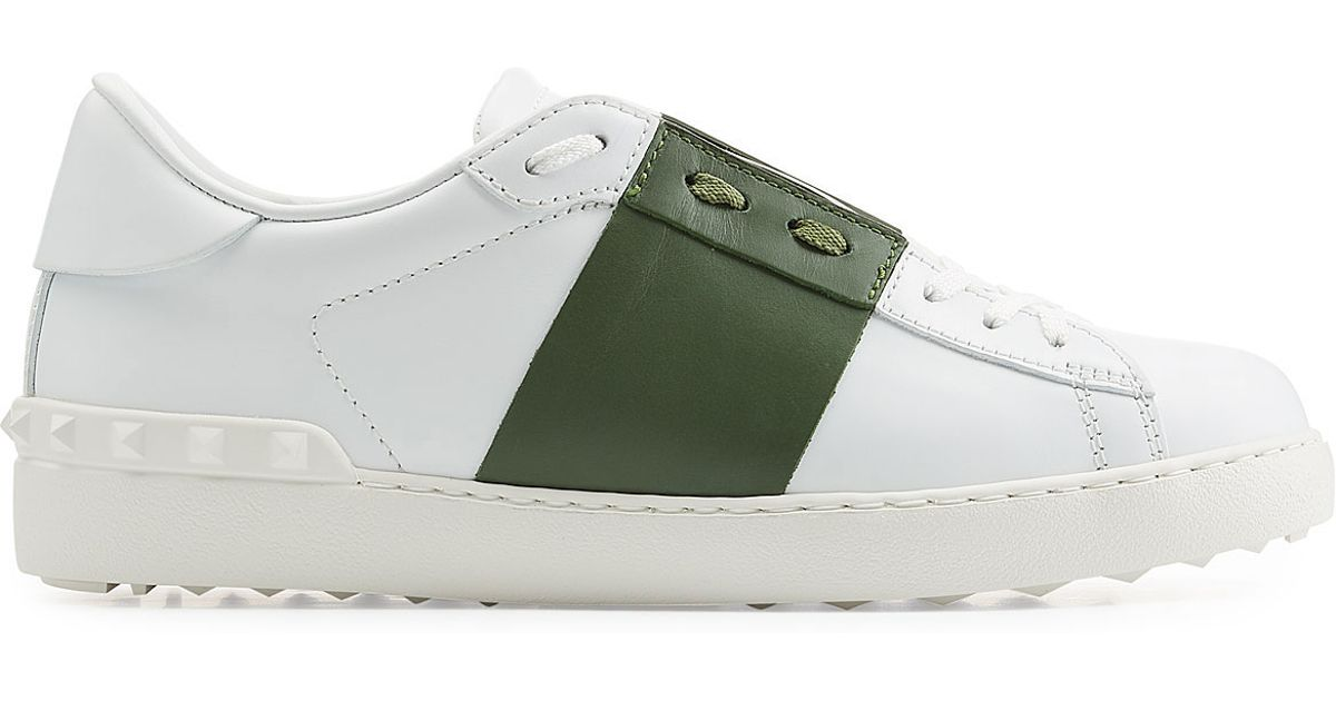 291413b5ea14 Lyst - Valentino Open Leather Sneakers - White in White for Men