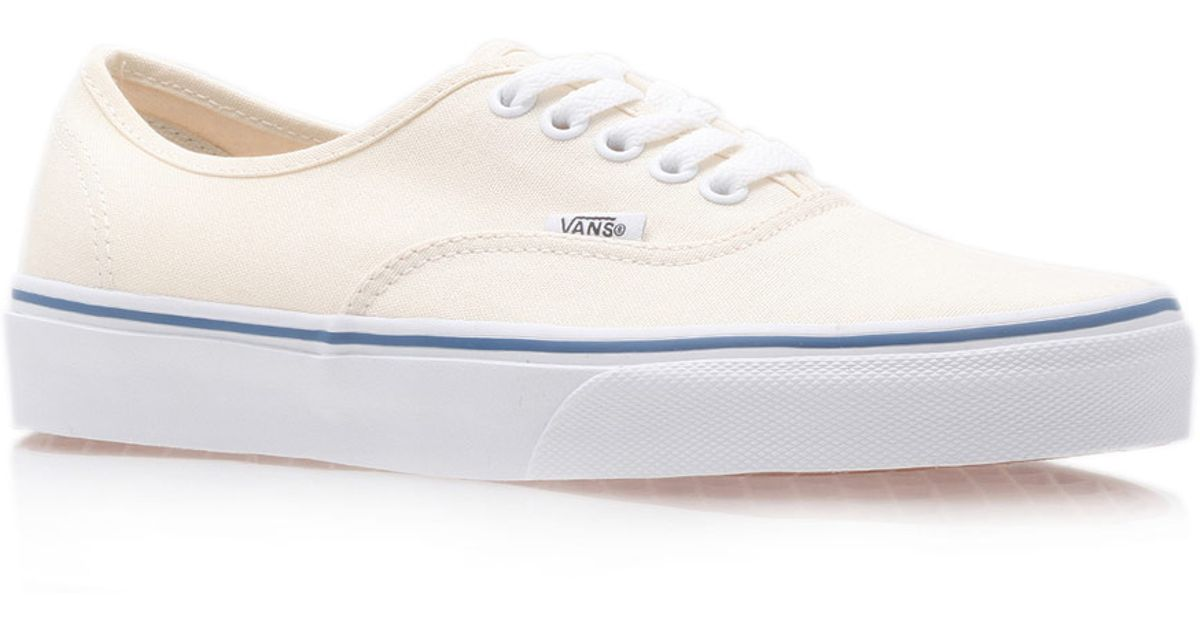 Lyst - Vans Cream Authentic Classic Contrast Canvas Skate Shoes in Natural  for Men 7eed2075e8