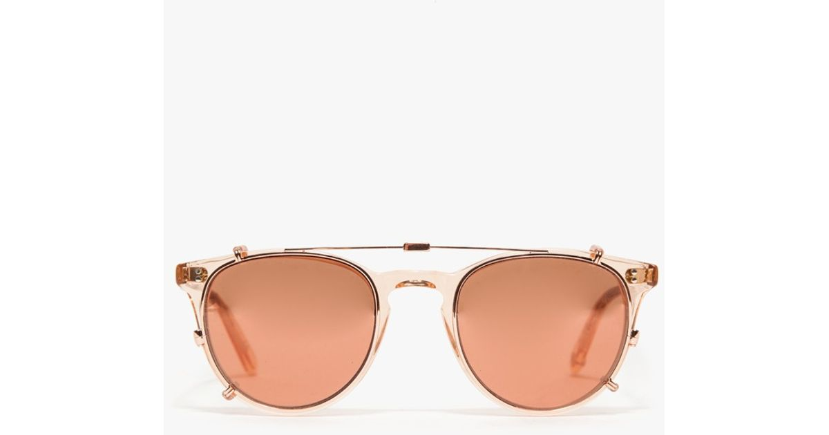 Milwood clip-on sunglasses lenses - Metallic Garrett Leight tkYsl