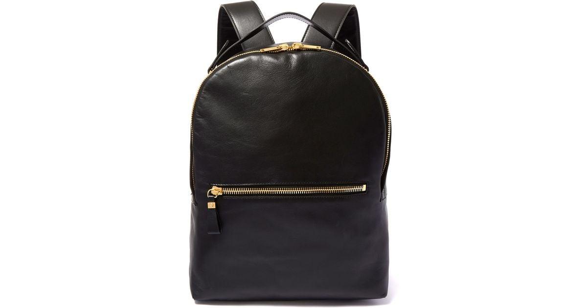 0ba832d9b098 Sophie Hulme Black Wilson Leather Backpack in Black - Lyst
