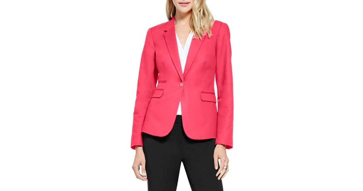 00e8b55f8a62 Vince Camuto One-button Blazer in Pink - Lyst