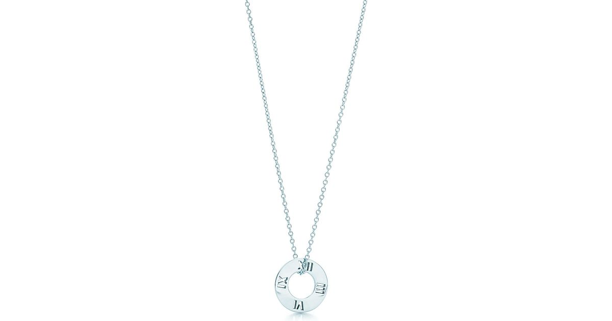 ac2cb98fe Women's Metallic Tiffany Circlet Pendant With Diamonds In Platinum, Mini
