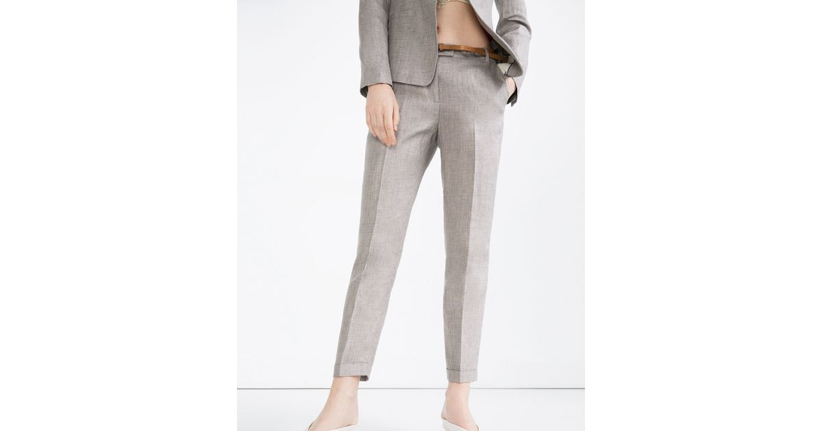 Cool Grey Linen Pants For Women  Pant So