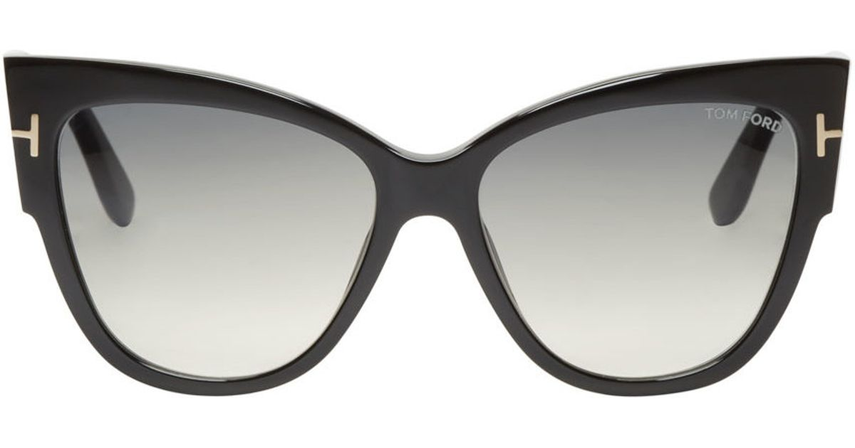 tom ford black anoushka sunglasses in black for men lyst. Black Bedroom Furniture Sets. Home Design Ideas