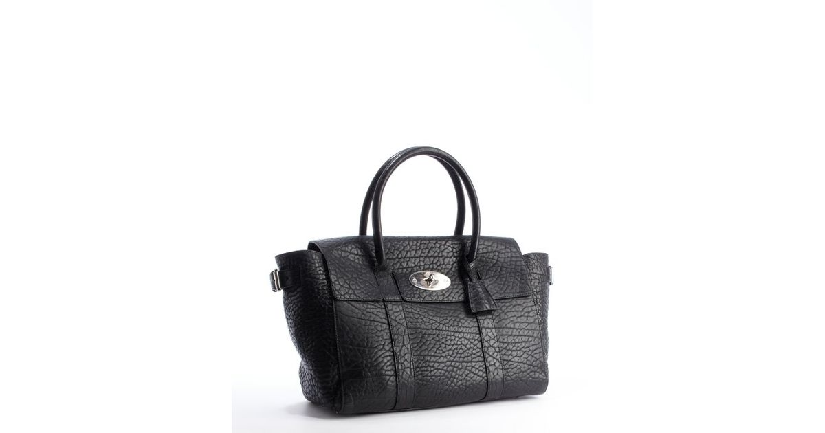 Mulberry Black Pebbled Leather Bayswater Buckle Tote Bag in Black - Lyst a04fd0de5b470
