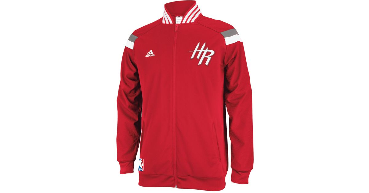 best sneakers 86960 6ed44 adidas Men S Houston Rockets On-Court Jacket in Red for Men - Lyst