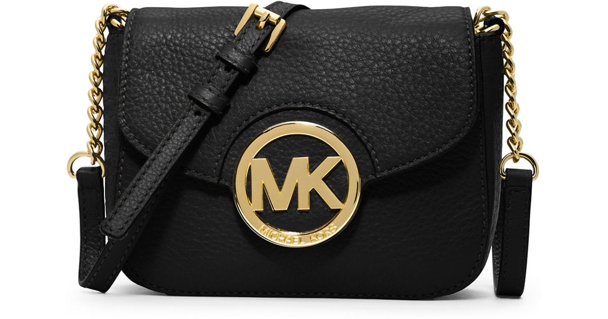 f8bef1b94e85 ... promo code for lyst michael michael kors fulton leather small crossbody  bag in black 0dc66 bf595
