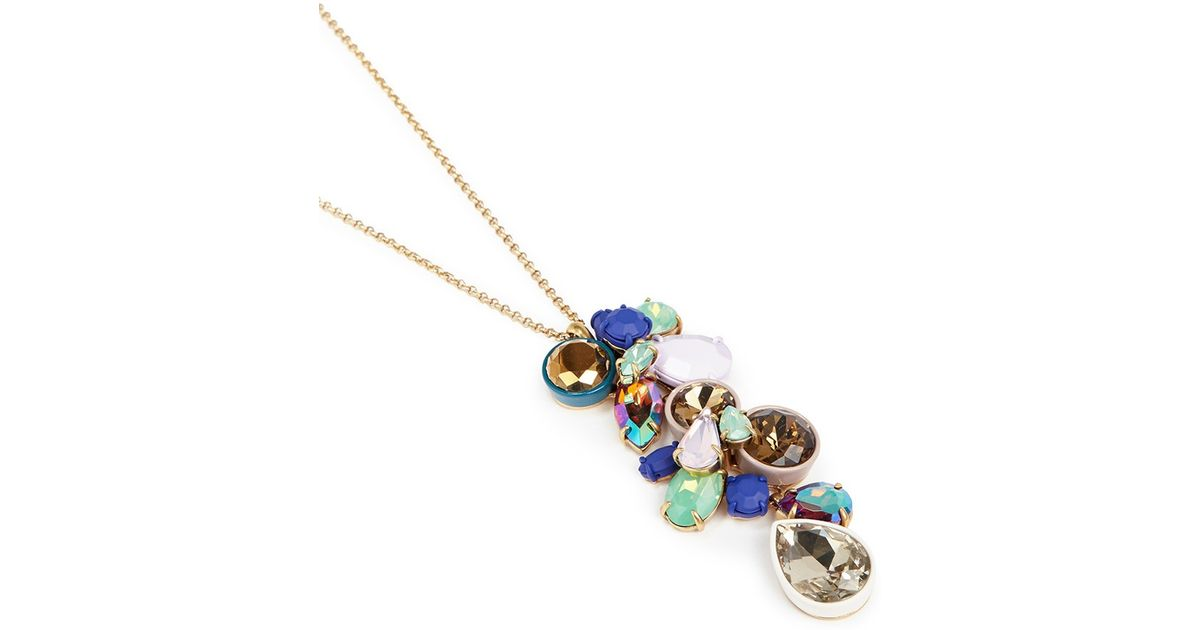 Lyst jew gem cluster pendant necklace aloadofball Image collections