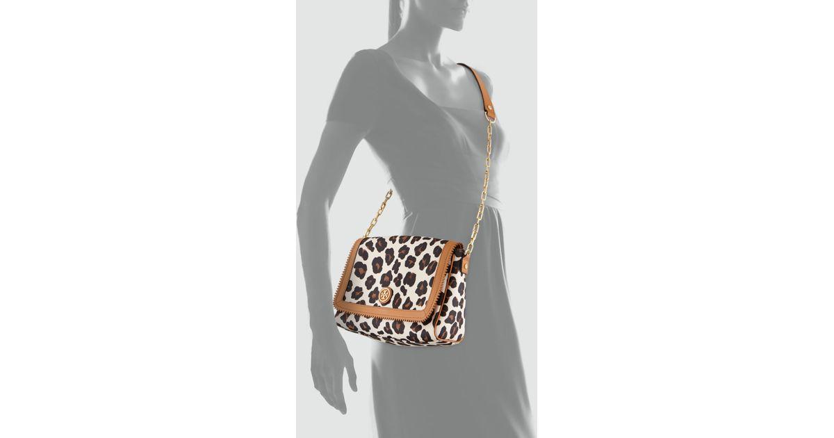 1959c5e5ffef Lyst - Tory Burch Kerrington Leopardprint Crossbody Bag